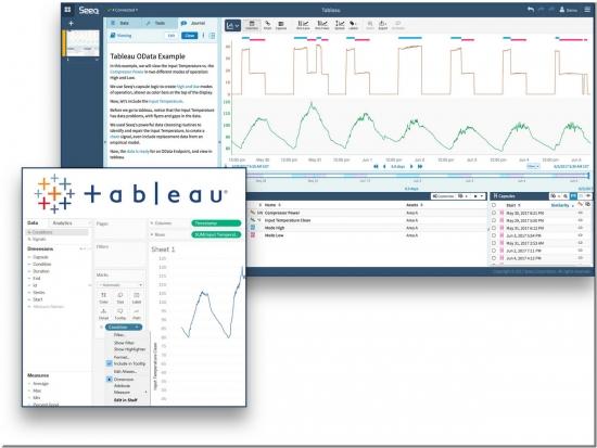 Seeq Tableau press release screen shot