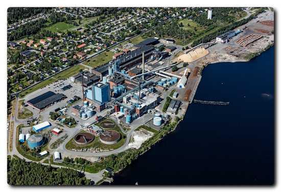 Obbola paper mill. Photo credit: Bergslagsbild
