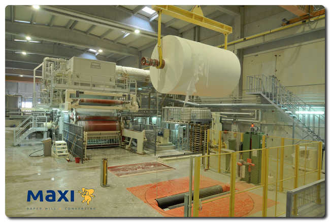 The second Recard Tissue plant actually operating at MAXI company.