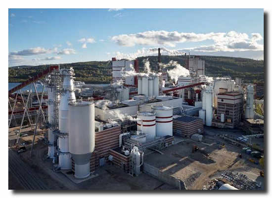 Östrand pulp mill. Picture: Torbjörn Bergkvist.